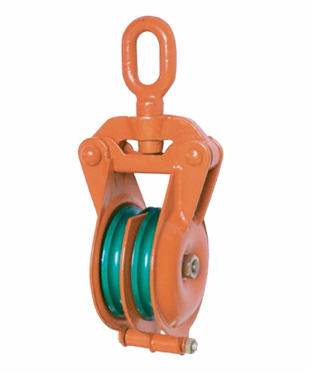YBS Type Orange Snatch Block With Double Wheel