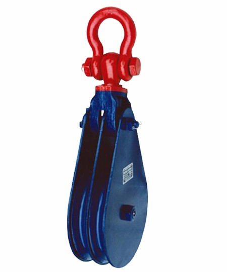 H409 Light Type Champion Snatch Block Double With Shackle