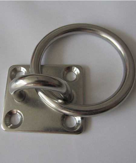 Stainless Steel Square Pad Eye Plate With Ring