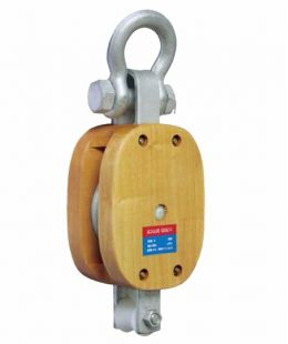 Regular Wood Block Single With Shackle