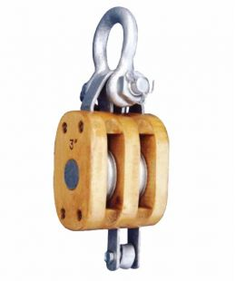 Regular Wood Block Double With Shackle