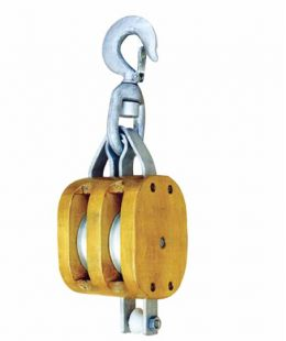 Regular Wood Block Double With Swivel Hook