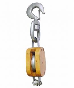 Regular Wood Block Single With Swivel Hook