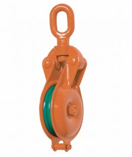 YBO Type Orange Snatch Block With Single Wheel