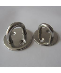 Stainless Steel Round Eye Plate, Round Pad Eyes
