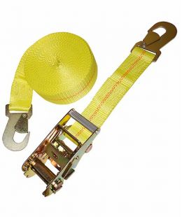 2-Ratchet Tie Down With Flat Snap Hook