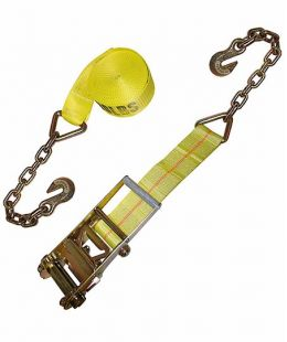 4″ Ratchet Tie Down With Chain Extensions