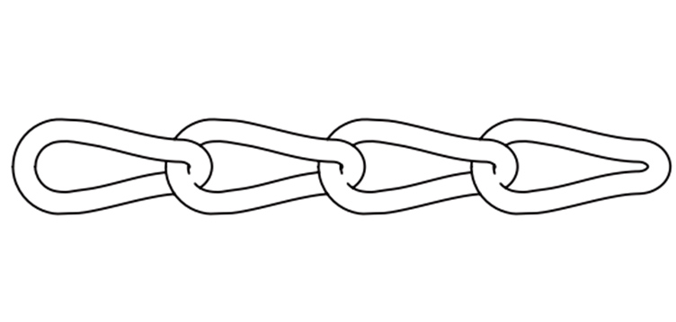 US TYPE COIL TWIST LINK CHAIN