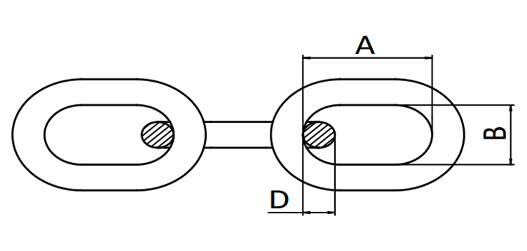 US TYPE PASSING LINK CHAIN