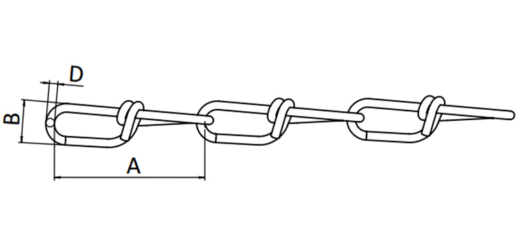 Din 5686 Double Loop Chain
