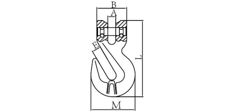 G100 CLEVIS SHORTENING GRAB HOOK WITH WINGS