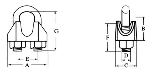 DIN1142 MALLEABLE WIRE ROPE CLIP