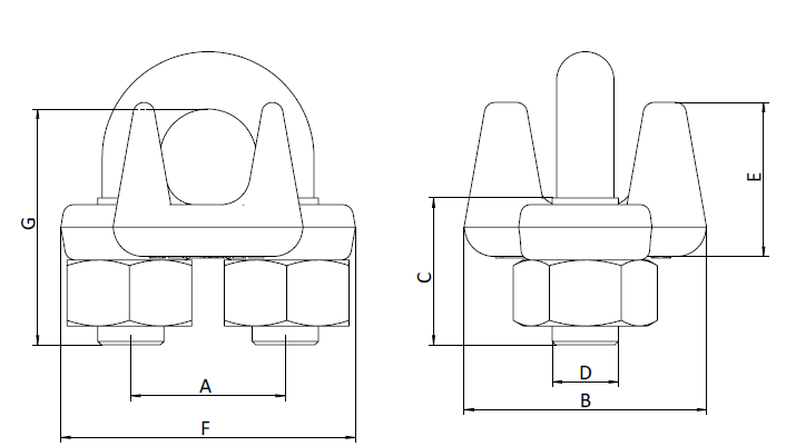 Type A Malleable Wire Rope Clip