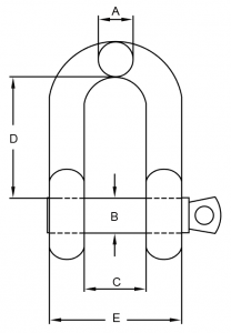 SS G210 SHACKLE